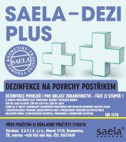 SAELA - DEZI PLUS - dezinfekce na povrchy - 1000 ml náhradní obal