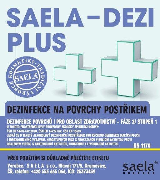 SAELA - DEZI PLUS - dezinfekce na povrchy - 5l náhradní obal SAELA s.r.o.