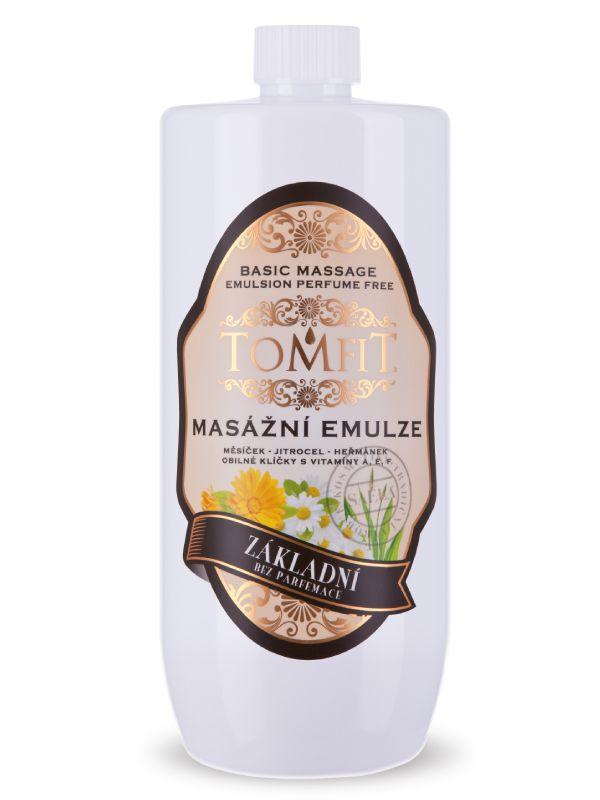 Masážní emulze TOMFIT - základní bez parfému 1 l SAELA s.r.o.