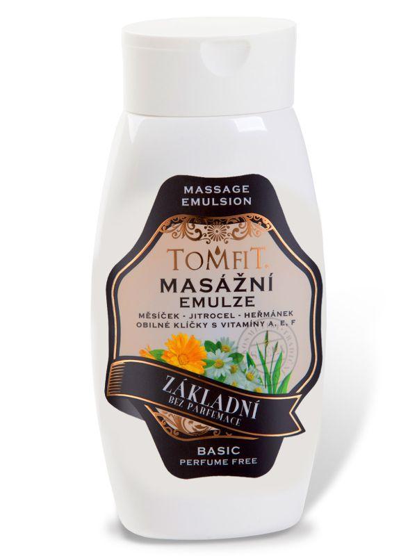 Masážní emulze TOMFIT - základní bez parfému 250 ml SAELA s.r.o.