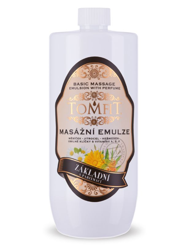 Masážní emulze TOMFIT - základní s parfemací 1 l SAELA s.r.o.
