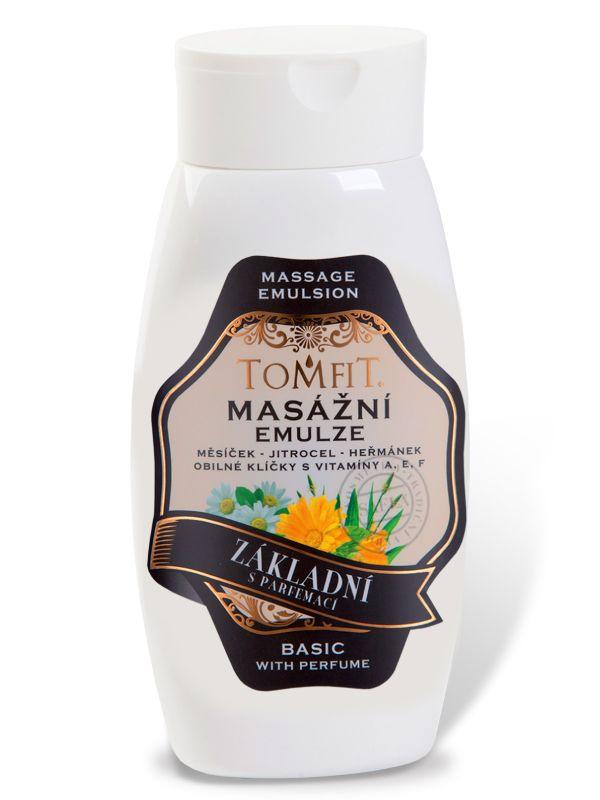Masážní emulze TOMFIT - základní s parfemací 250 ml SAELA s.r.o.