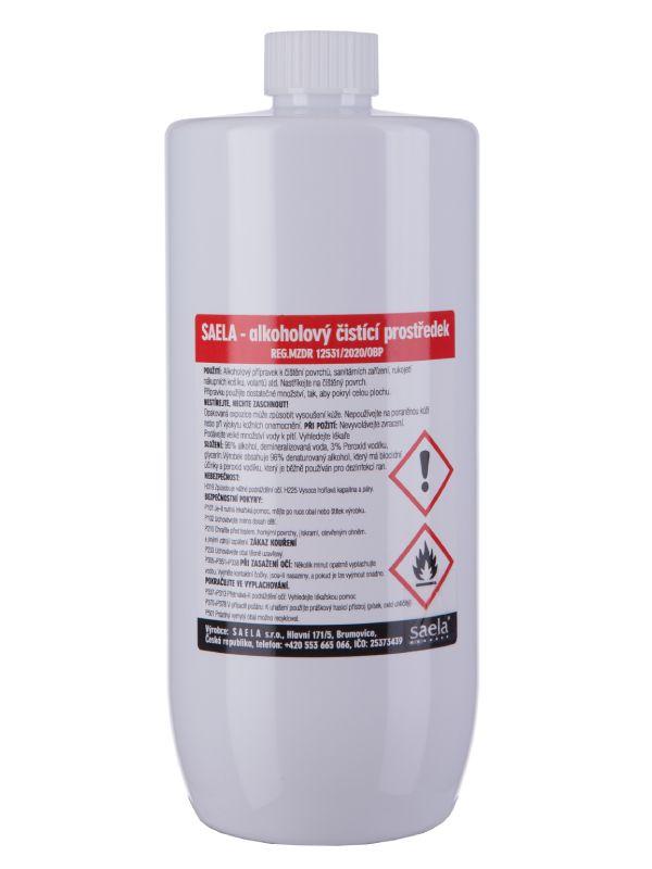 SAELA - alkoholový čistící prostředek na povrchy - 1000 ml - náhradní obal SAELA s.r.o.