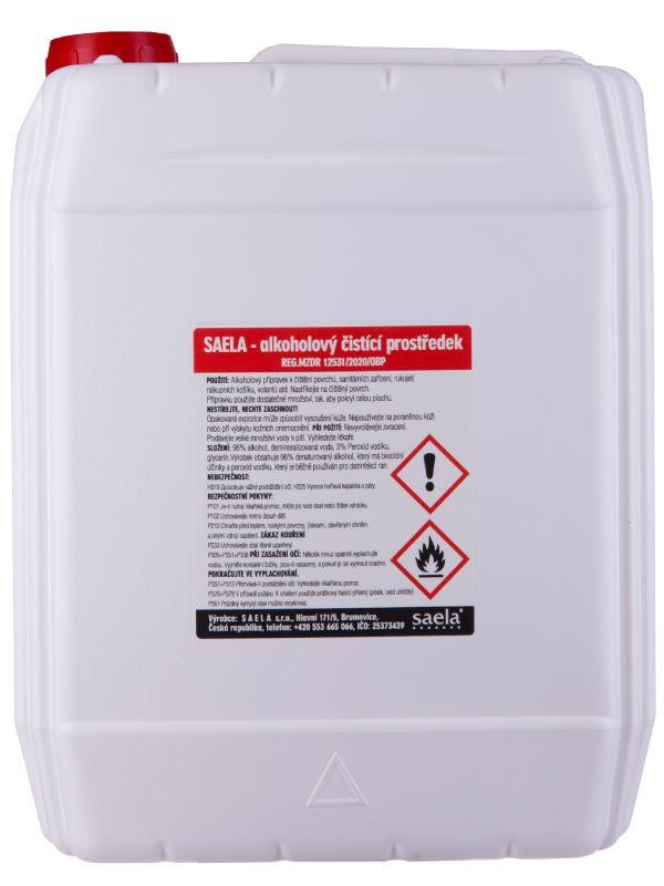 SAELA - alkoholový čistící prostředek na povrchy - 5l kanystr - náhradní obal SAELA s.r.o.