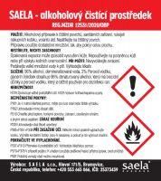 SAELA - alkoholový čistící prostředek na povrchy - 750 ml srozprašovačem SAELA s.r.o.