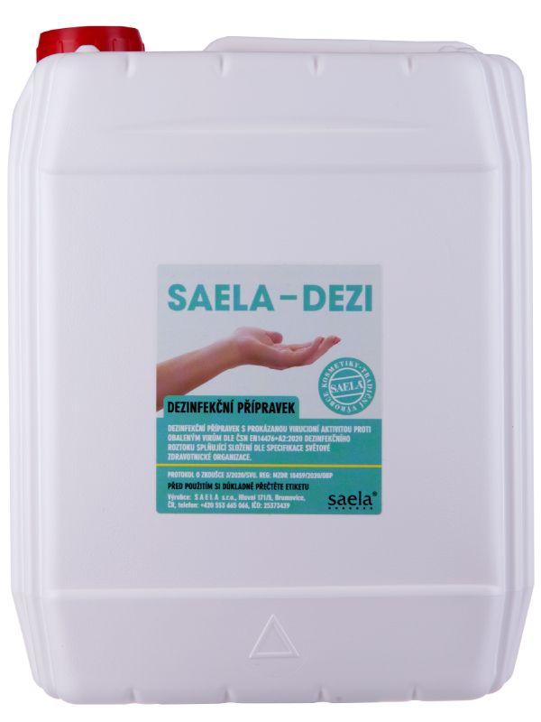 SAELA - DEZI - dezinfekce na ruce - 5l kanystr - náhradní obal SAELA s.r.o.