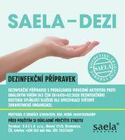 SAELA - DEZI - dezinfekce na ruce - 750 ml s rozprašovačem SAELA s.r.o.