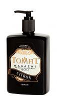 TOMFIT přírodní masážní olej - CITRON 500 ml