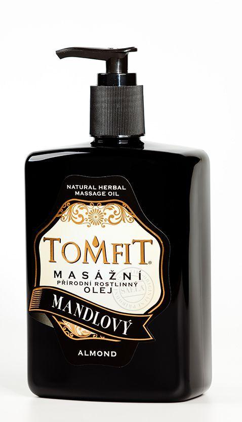 TOMFIT masážní přírodní rostlinný olej - MANDLOVÝ 500 ml SAELA s.r.o.