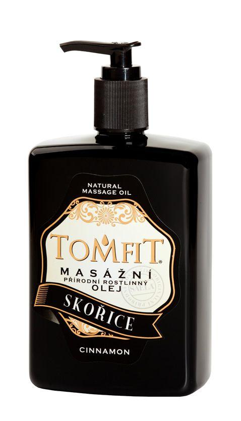 TOMFIT přírodní masážní olej - SKOŘICE 500 ml SAELA s.r.o.