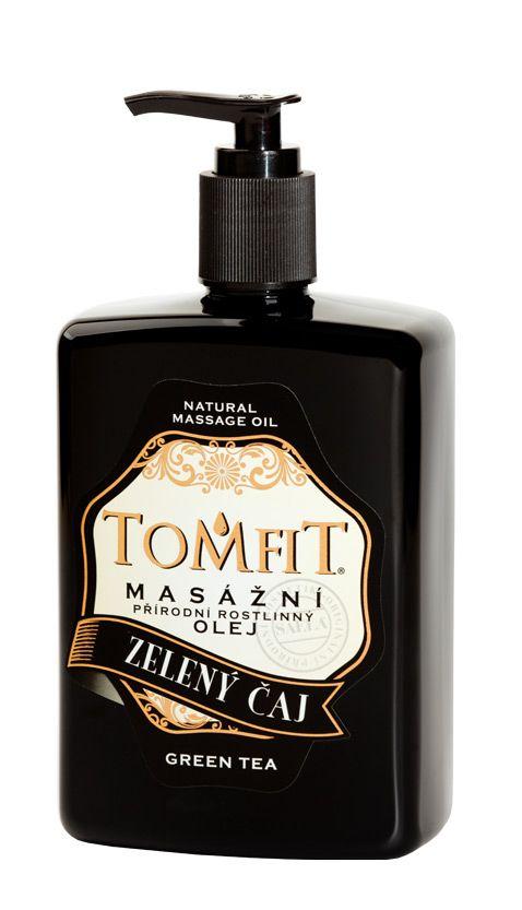 TOMFIT přírodní masážní olej - ZELENÝ ČAJ 500 ml SAELA s.r.o.