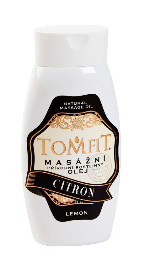 TOMFIT přírodní masážní olej - CITRON 250 ml SAELA s.r.o.