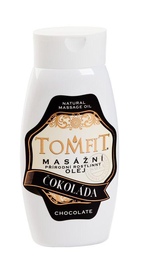 TOMFIT přírodní masážní olej - ČOKOLÁDA 250 ml SAELA s.r.o.