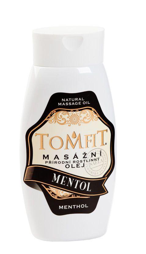 TOMFIT přírodní masážní olej - MENTOL 250 ml SAELA s.r.o.