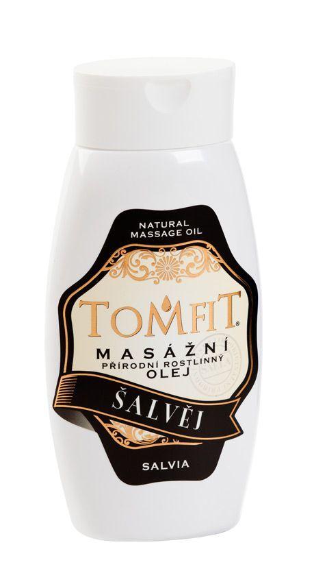 TOMFIT přírodní masážní olej - ŠALVĚJ 250 ml SAELA s.r.o.
