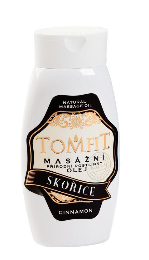 TOMFIT přírodní masážní olej - SKOŘICE 250 ml SAELA s.r.o.