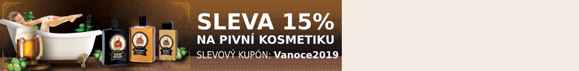 Pivní kosmetika v akci - sleva 15%